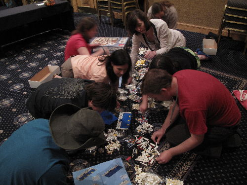 Fforde Ffiesta and the lego building gets underway
