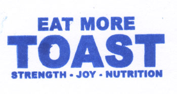 Bookstamp: Eat More Toast