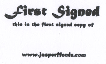 Bookstamp: First Signed