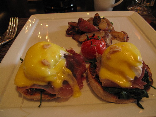 Eggs Benedict at the Bverly Wilshire
