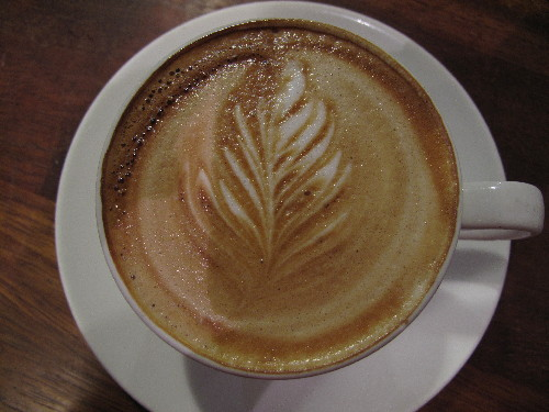 Foyles Cafe - the best cappuccino flourish I have ever seen..