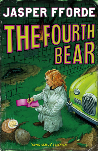 The UK cover of 'The Fourth Bear'
